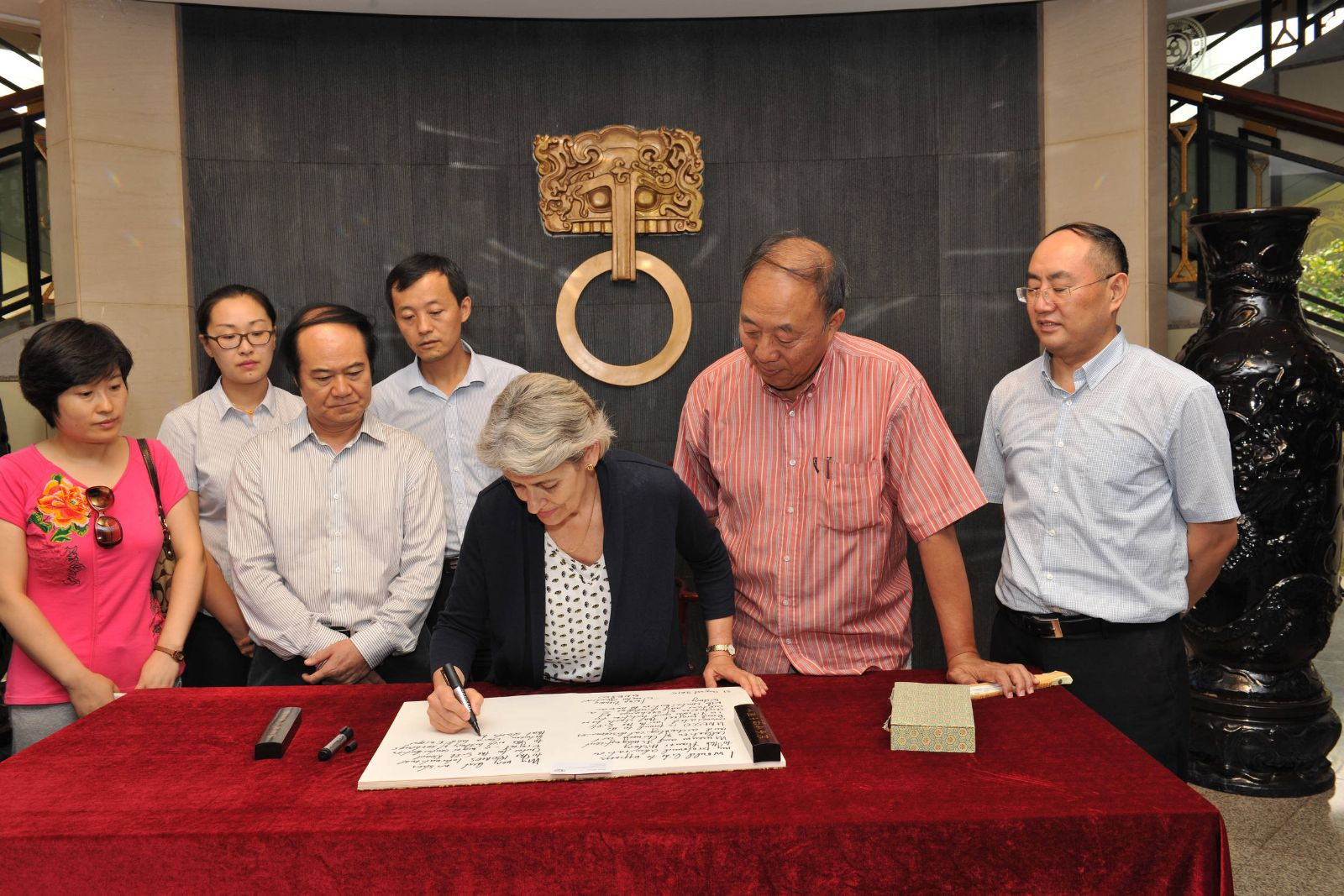 Irina Bokova meets the I OS International Conservation Centre in